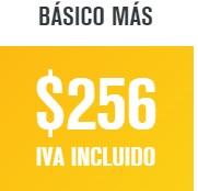 paquete dish básico plus en 256 pesos
