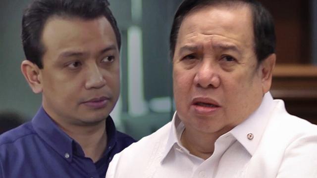 Sen - Senator Richard Gordon's unethical complaint against Senator Antonio Trillanes  - Philippine Daily News