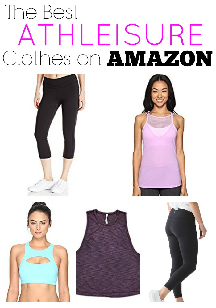 Amazon has brand name athleisure workout clothes with free 2 day shipping