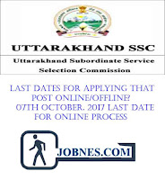 Uttarakhand Subordinate Service Selection Commission recruitment 2017  for various posts  apply online here