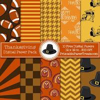 kit imprimible descargable gratis de accion de gracias o thanksgiving