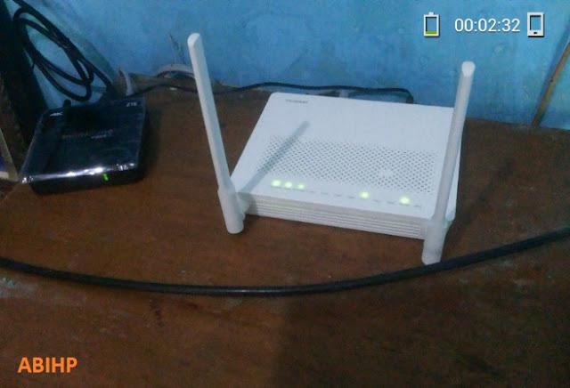 Selesai instalasi modem IndiHome dan UseeTV.