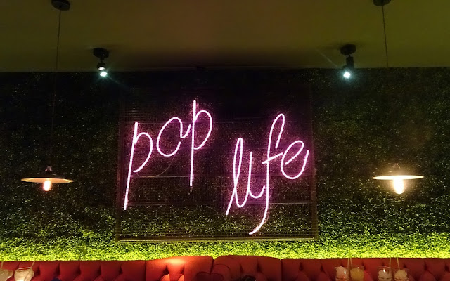 Pop Life Sign at Be At One Liverpool