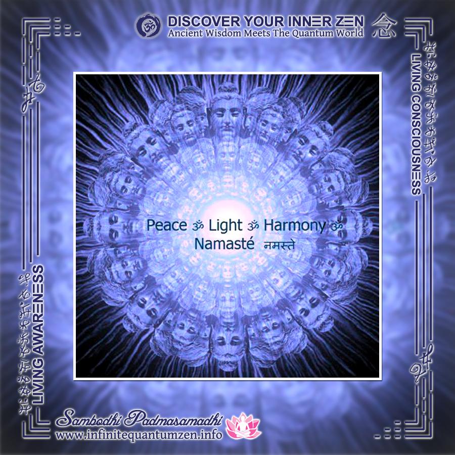 Peace, Light, Harmony, Namaste Mandala - Infinite Quantum Zen, Success Life Quotes, Alan Watts Philosophy