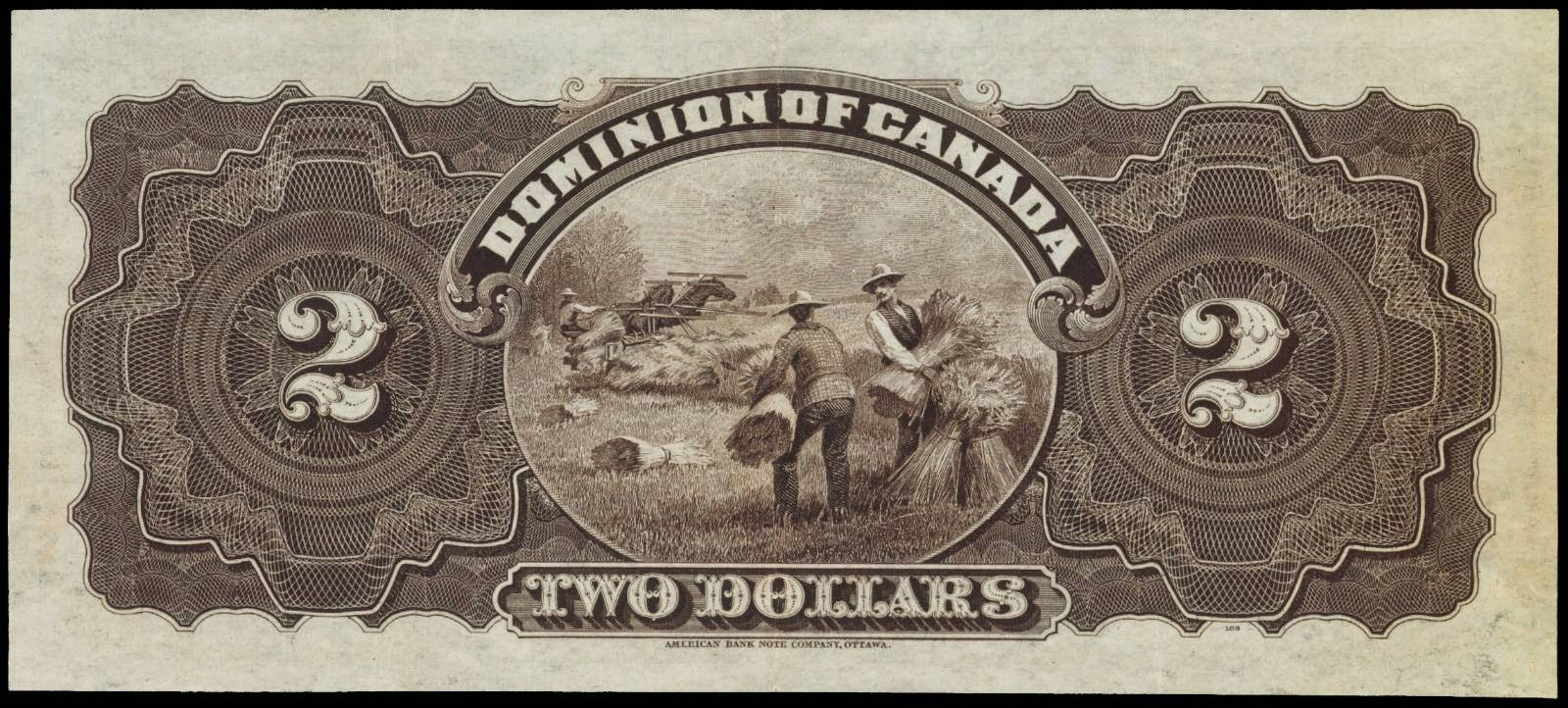 Dominion of Canada banknotes 2 Dollars 1897