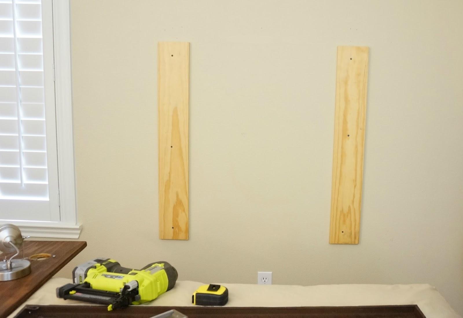 DIY Wood Plank Lighted Headboard