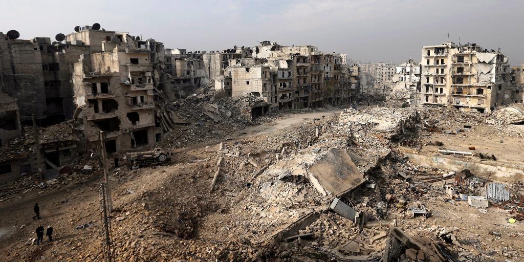картини російських бомбардувань Алеппо в Сирії