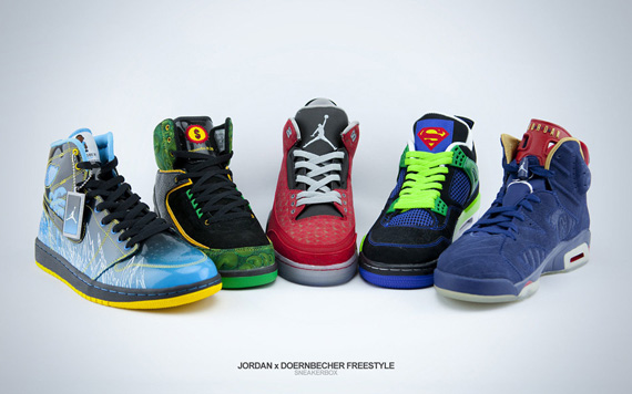 buy popular 5e652 5b07f As of mid-November 2011, the Air Jordan x Doernbecher Freestyle Collection  now runs five models deep. Sheridan Brenton (Air Jordan II, 2007), ...