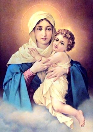 Imagen de la Virgen María con el niño Jesús
