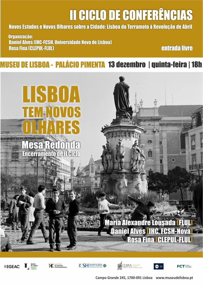 Lisboa tem Novos Olhares | 13 Dezembro | 18h