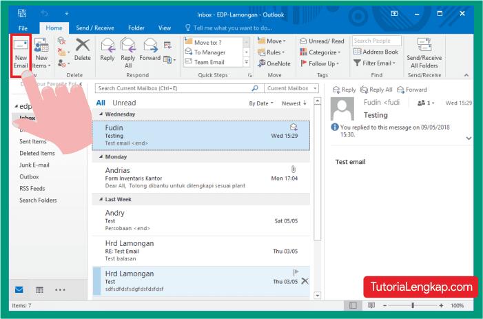 Cara mengirim File melalui outlook