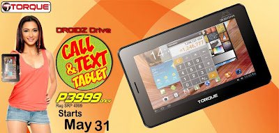 Torque Droidz Drive Call and Text Function Tablet