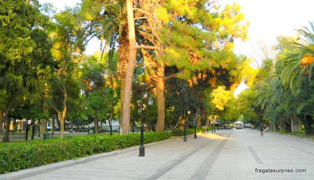 Parque Kolokotronis, Nafplio, Grécia