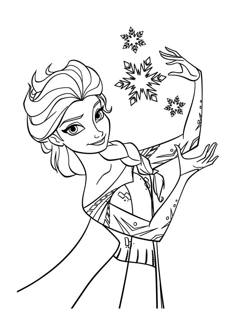 Tranh tô màu Elsa 02