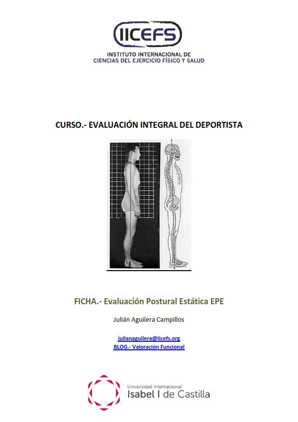 _____ Valoración Funcional: EPE.- Evaluación Postural Estática