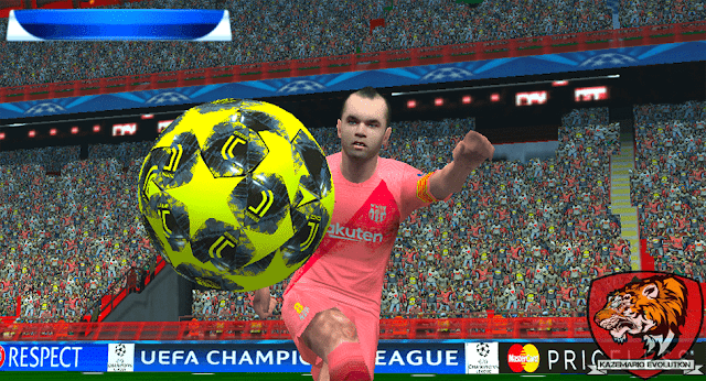 Adidas UCL Juventus Ball 2018 For PES PSP (PPSSPP)