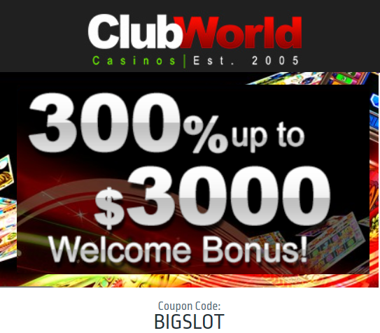 Club World Casinos Welcome Offer