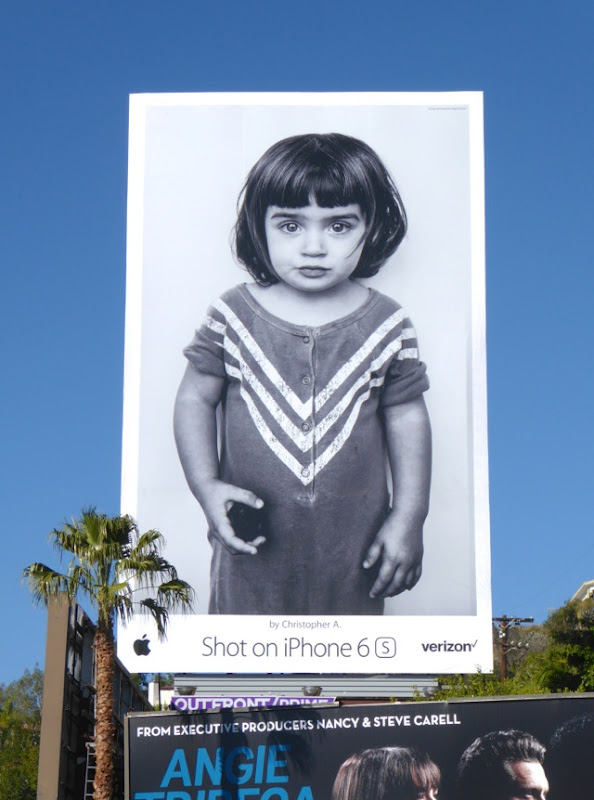 Shot on iPhone 6s Christopher A Little girl billboard