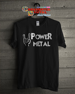 baju kaos Distro power metal warna Hitam