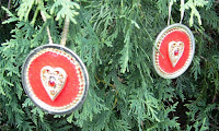 Canning lid ornaments