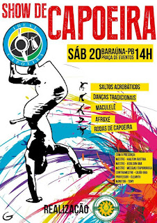 Grupo realiza show de capoeira em Baraúna próximo sábado (20)