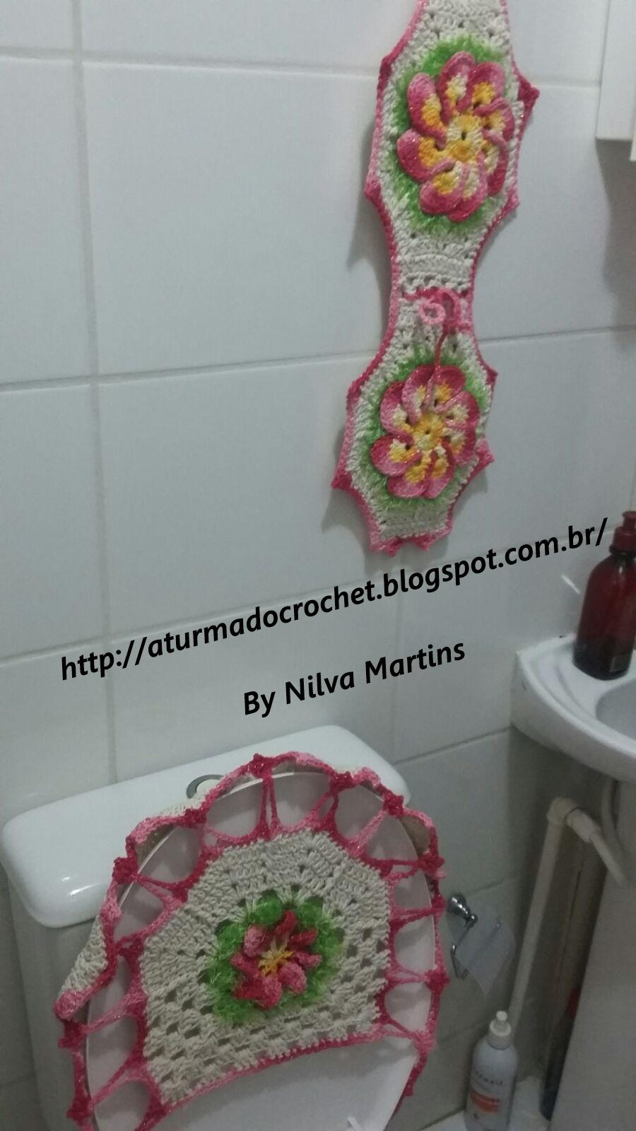 Jogos De Decorar Banheiros De Luxo : A turma do crochet jogo de banheiro luxo