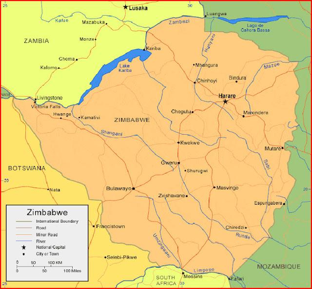 image: Map of Zimbabwe