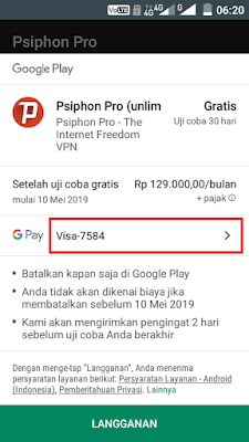 Cara Mendapatkan Trial 30 Hari Psiphon Pro Unlimited