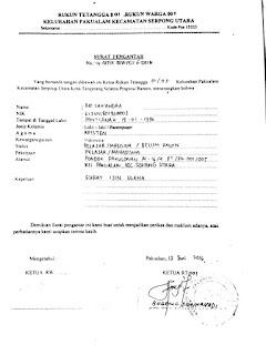 Contoh Surat Izin Usaha Rt