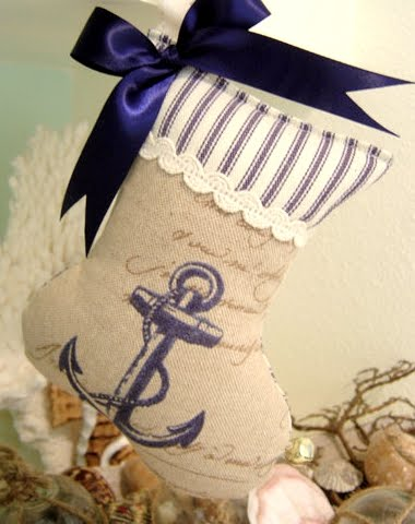 mini nautical Christmas stockings