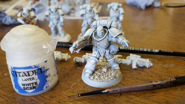 how to paint white space marine