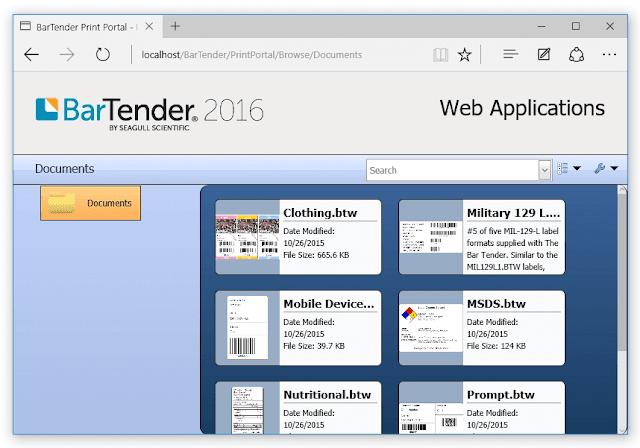 Version: BarTender 2016 R8, released 2018-09-05 full