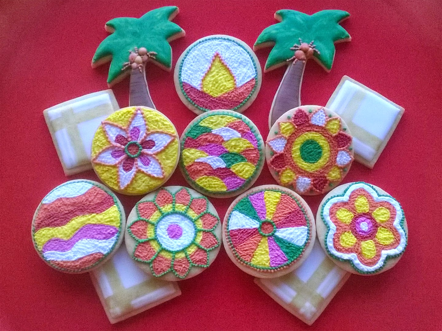 Kerala Inspired Decorated Cookies