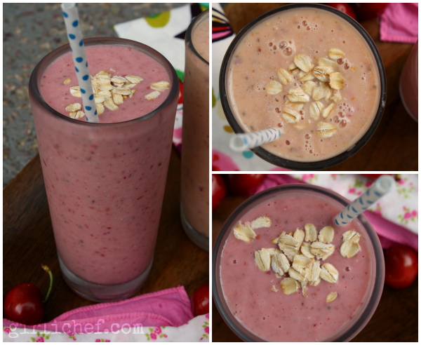 Fruit & Oat Power Smoothies | www.girlichef.com