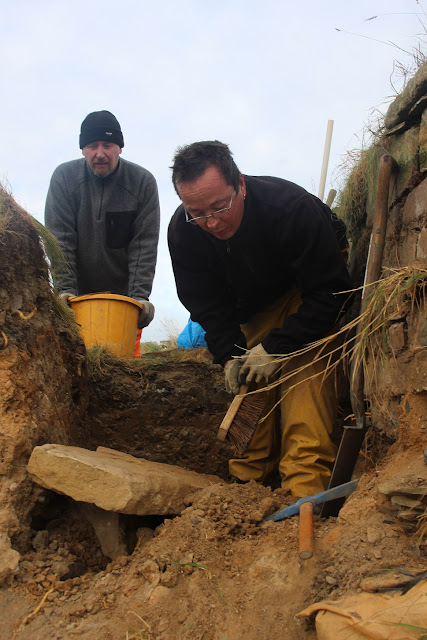 Pictish carved stone discovered in Orkney cliff