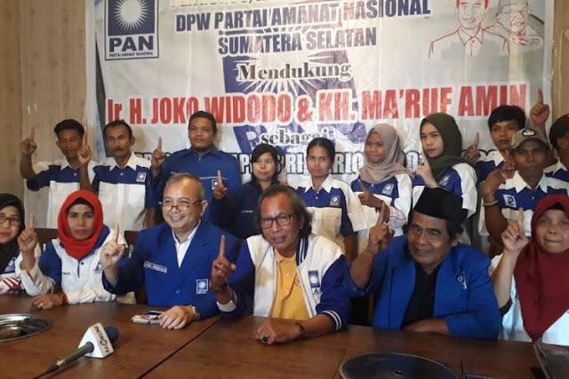 Dukungan PAN Sumsel ke Jokowi Dilakukan Orang Tak Bertanggung Jawab
