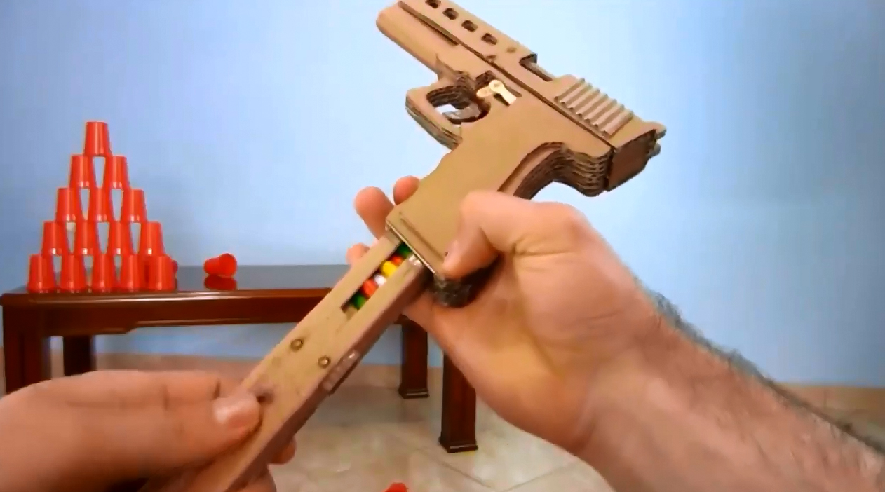 Cómo Hacer Una Pistola De Cartón Casera Diy Construccion Y