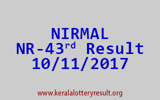 NIRMAL Lottery NR 43 Results 10-11-2017