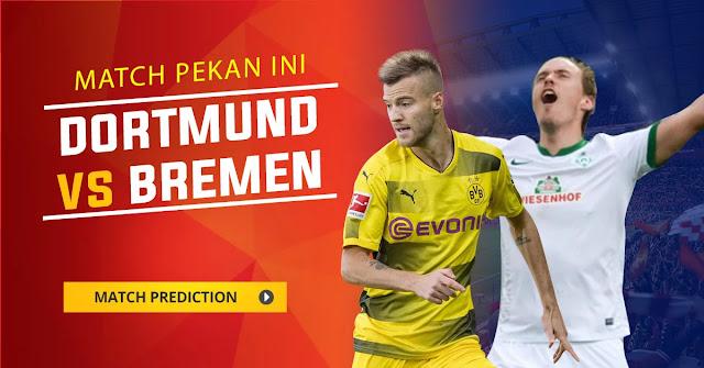 Borussia Dortmund akan menjamu Werder Bremen di Westfalenstadium pada simpulan pekan ini Berita Terhangat Prediksi Bola : Borussia Dortmund Vs Werder Bremen , Sabtu 09 Desember 2017 Pukul 21.30 WIB