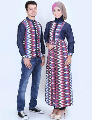 Desain terbaru model  couple batik pasangan remaja