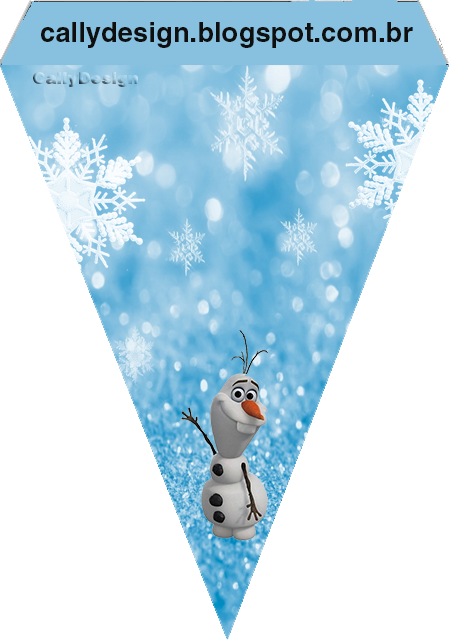 frozen with snow  free printable party kit
