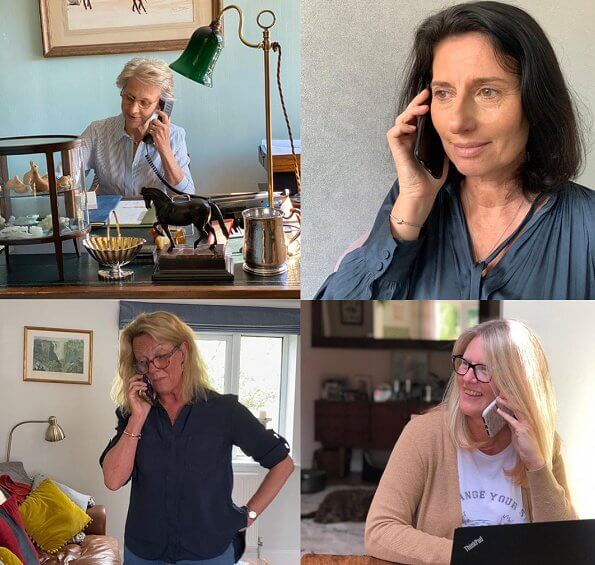 Duchess of Gloucester joined a call with Kay Boycott, Caroline Fredericks and the charity's services lead Helen Sinton