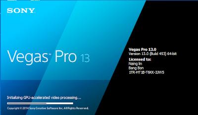 Sony Vegas Pro 13 Full Patch (386.7MB)