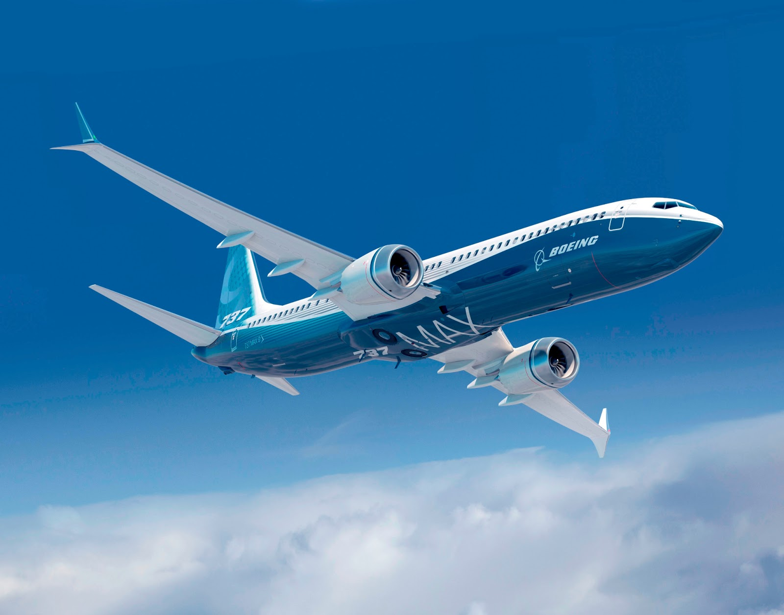 boeing 737 max concept with double winglet aircraft wallpaper 3299