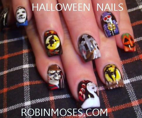 Nail Art By Robin Moses Halloween Nail Art Cute Halloween Nails