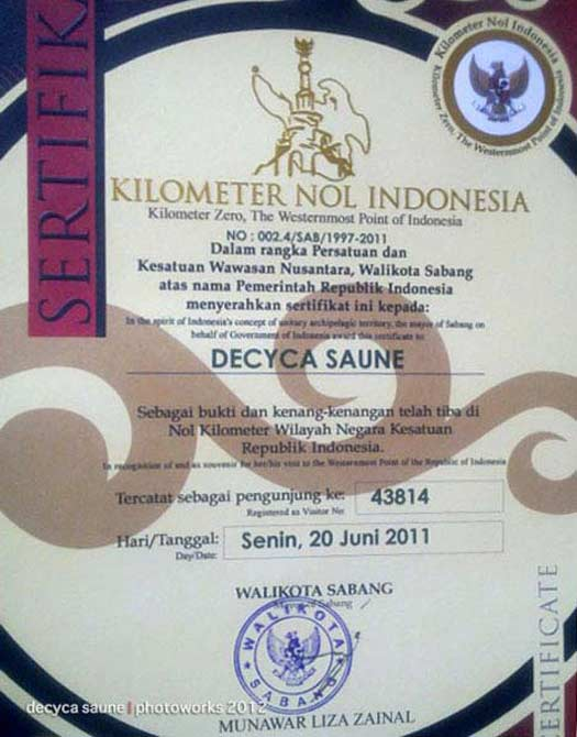 tugu kilometer nol indonesia sabang
