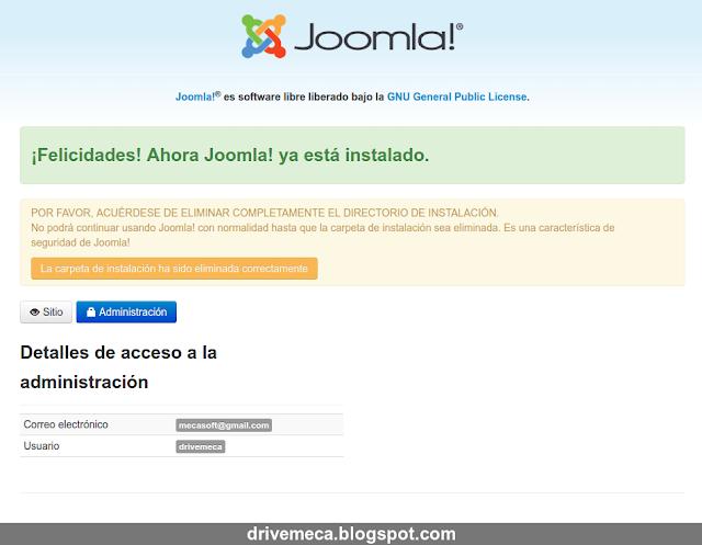 DriveMeca instalando Joomla en Linux Centos 7 paso a paso