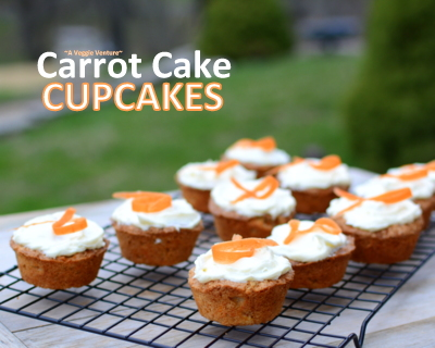 Carrot Cake Cupcakes ♥ A Veggie Venture, a cupcake adaptation of Cook's Illustrated's carrot cake recipe