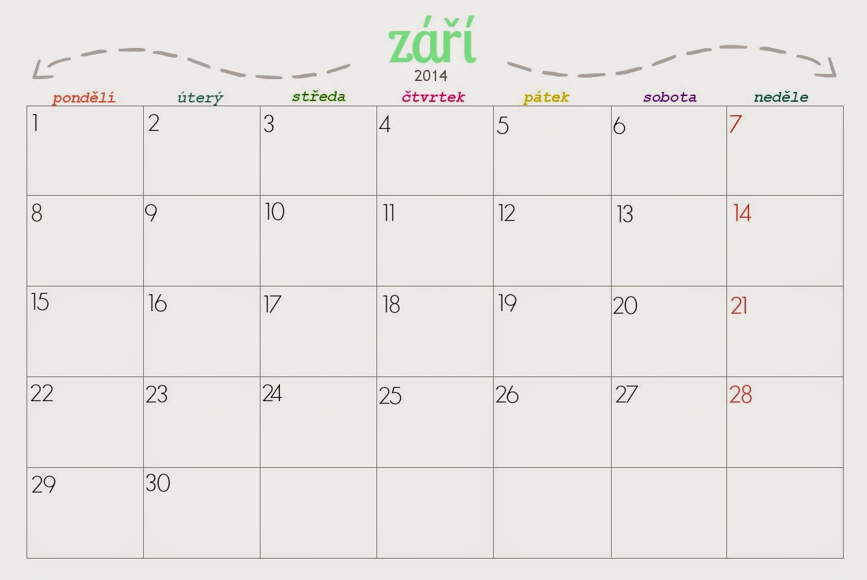kalendar zari 2014 Šití je posedlost: kalendář na září 2014 kalendar zari 2014