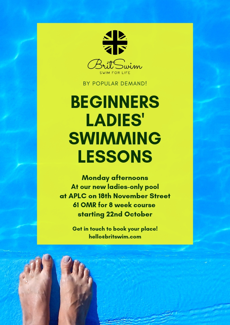 Ladies swimming lessons Muscat Oman BritSwim